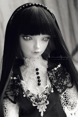 Monochrome (Calfuraay) Tags: doll bjd bjds balljointeddoll balljointeddolls bjdphotography sd sd13 fairyland feeple60 lacrima vampire fantyfoo wig oscardoll oscareyes oscar eyes 14mm musedoll outfit dress marchofdolls march dolls monochrome