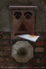 You've got mail (srkirad) Tags: funny travel venice italy mailbox mail shadow face smiley eyes mouth nose bricks metal wall closeup