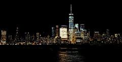 Manhattan from Jersey City (HervelineG) Tags: nyc manhattan night nuit rx100 skyline hudson lowermanhattan buildings gratteciel river city ville