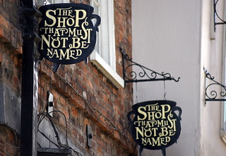 The Shop That Must Not Be Named - Golden Signs in York