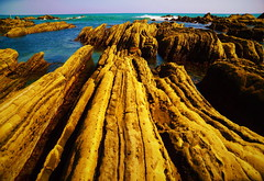 Rock formations of the coast (chikaraamano) Tags: rock various formations possible sea water coast considerable aeryspring distance continues very attractive nice location horizontal sky outdoor nature chiba japan