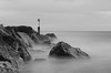 MISTY SEA (MKREALITY) Tags: blackandwhite ndfilter landscape composition beach travel misty longexposure depth youtube youtuber vlog vlogger coastline uk england rocks sea cloudy adventure explore f64group