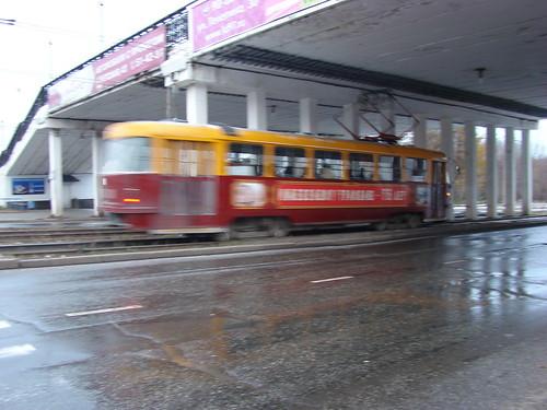 Юбилейный трамвай в Ижевске ©  ayampolsky