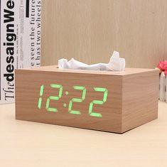 Wooden Rectangle LED Alarm Clock Digital Desk USB/AAA Rechargeable Tissue Box (1060844) #Banggood (SuperDeals.BG) Tags: superdeals banggood electronics wooden rectangle led alarm clock digital desk usbaaa rechargeable tissue box 1060844