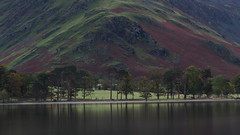 "The Sentinels (Say ""Wasabi"") Tags: pine pines trees hills lakes buttermere cumbria water lake reflections scenery landscape autumn fall olympus m43 lakedistrict fells colours"