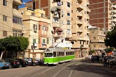 Düwag-Wagen 848 zwischen den Haltestellen El Hommiat und Nariman (Frederik Buchleitner) Tags: 848 alexandria duewag düwag gt6 ks kopenhagen københavnssporveje linie18 misr sechsachser sporveje strasenbahn streetcar tram trambahn aliskandariyya ägypten الإسكندرية مصر