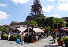 Cafes only a stone's throw from the Eiffel Tower