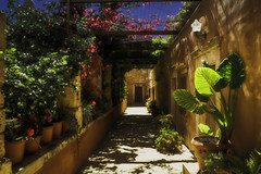 Garden of Moni Agia Triada (FBK1956) Tags: 2016 canon canoneos canoneos5dmarkiii griechenland klosteragiatriada kreta crete kloster garten blumen monasteries κρήτη