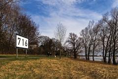 Baumberg - Rheinkilometer 716 (KL57Foto) Tags: 2018 baumberg fluss germany gewässer jahreszeitenundwetter kl57foto landschaften march monheimbaumberg märz nrw natur nordrheinwestfalen olympus penemp2 rhein rhine river winter