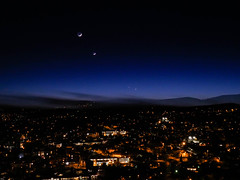 Conjunction of two planets ... Luberon, Provence, South of France (JPP04) Tags: planets venus mercury moon crescent