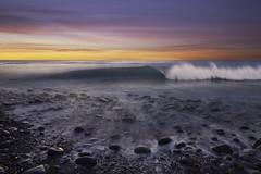 The Little Peeler (Lee Sie) Tags: sunset surf wave west coast rocks sea tide marine water pacific ocean lajolla sky clouds color