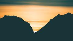 The unconquerable power of the mind. (icarium82) Tags: night landscape sunset travel nature canoneos5dmarkiv dusk sigma100400mmf563dgoshsmcontemporary winter mountain abenddämmerung berg landschaft nightshot reise sundown muottasmuragl engadin switzerland sameden silhouette minimalism minimalistic