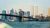 Brooklyn Bridge 1988 (Alexander Dülks) Tags: usa skyscraper 1988 newyorkcity bridge hochhaus eastriver newyork manhattan worldtradecenter skyline brücke brooklynbridge