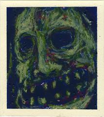 S E L F I E (PabloQuerea) Tags: oil paint art artbrut selfie