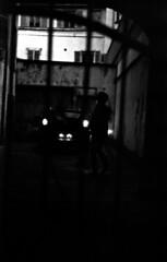 déjà, la nuit (hugobny) Tags: ilford pan 400 200iso p30 argentique analogue analog analogique caffenol cl helios 44m f2 58mm pentaxp30 strasbourg street