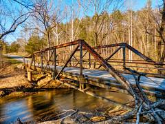 single-lane truss bridge over Big Otter Creek (Retronaut) Tags: hdr