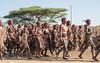 Girl Power Omo Style (Sue MacCallum-Stewart) Tags: africa ethiopia omovalley women girlpower marching hamar tribe