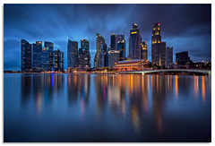 Downtown reflections (.Wadders) Tags: singapore cityscape marinabay 2018 d600 ngc nikonfxshowcase nikkor1635mmf4 water reflection