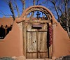 New Mexico (France-♥) Tags: 959 lascruces newmexico usa door porte bois wood mesilla chilepepper nouveaumexique wall mur ristra tradition