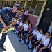 Navy musician performs at the School during Continuing Promise 2018.