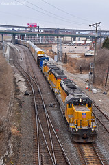 "Eastbound Transfer in Kansas City, MO (""Righteous"" Grant G.) Tags: up union pacific railroad railway locomotive train trains east eastbound transfer freight emd power kansas city missouri yard job"