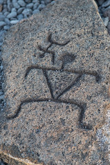 Model petroglyphs at Puako trailhead (mfeingol) Tags: puako model hawaii bigisland waimea unitedstates us puakopetroglyphtrail