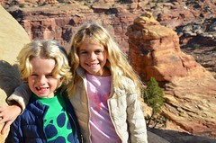 The Kids On The Slickrock Trail (Joe Shlabotnik) Tags: nationalpark utah violet 2017 canyonlands everett november2017 canyonlandsnationalpark afsdxvrzoomnikkor18105mmf3556ged faved