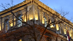 Old palace, Belgrade (dtankosic) Tags: architecture serbia sfrj srbija geometry night citylights nikon manual belgrade lowlight