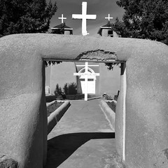 Church of San Francisco de Asis, Ranchos de Taos, NM (woody lauland) Tags: ranchosdetaos newmexico nm architecture church adobe blackandwhite monochrome grayscale