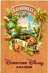 Postcrossing US-5227616 (booboo_babies) Tags: tropical california rainforestcafe downtowndisney anaheim postcrossing