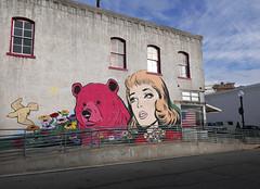 On the corner (steverichard) Tags: texas brenham tx graffiti graffito painted painting art publicart publicspace wall vintage female bear bird woman depiction artful oldfashioned 1950s liquorstore antstreet