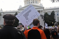 SacGuns66 (ONE/MILLION) Tags: students teachers march protest rally support downtown sacramento state capitol city streets nra rules regulations politics politicians people crowds donaldtrump president law enforcement horse mounted patrol signs dogs children vote elections black lives matter gun control mental health williestark onemillion assault rifle weapons die shoot hands up potus