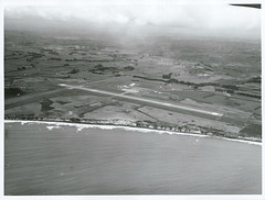 Aerial view of New Plymouth Airport, Taranaki. (Archives New Zealand) Tags: archivesnewzealand archives archivesnz nationalpublicitystudios aotearoa tourism newzealand newzealandhistory nz nzhistory history