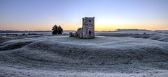 Frosty Knowlton Henge (Nick L) Tags: knowltonchurch knowlton knowltonhenge neolthic neolithichenge dorset englishcountryside england englishheritage uk coldmorning cold frosty predawn landscape canon5d3 canon5dmark3 1635lii canon1635lii bluesky