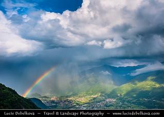 Italy - Alps - Parco dell'Alto Sebino during dramatic storm