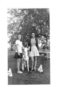 Women Posing at Allen A Camp, 1940s