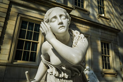 Didn't Catch That (dayman1776) Tags: sculpture statue marble classical neoclassical girl woman greek roman american nyc metropolitan museum sunset close up breast blind staff