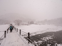 P1011365 (Rambalac) Tags: asia japan lumixgh5 bridge construction river snow water азия япония вода мост река снег сооружение