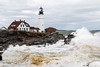 Portland Head Light during a large storm. (Andrew P ( the_aberrant)) Tags: canon photography portland portlandheadlight lighthouse seascape ocean winter nature outdoors wilderness storm newengland neverstopexploring waves beach coast goeast exploration eastcoast adventure travel maine mainetheway lifestyle