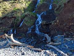 Waterfall at Pacific Coast in OR (Landscapes in The West) Tags: pacificcoast pacificocean pacificnorthwest oregon ocean beach lowtide cannonbeach indianbeach waterfall