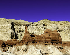 02469376321-97-The Toadstools Utah-1 (Jim There's things half in shadow and in light) Tags: 2018 canon5dmarkiv february desert winter utah grandstaircaseescalantenationalmonument hoodoos landscape earth sky sigma24105mmf4dg sandstone rock toadstools