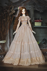 Ancient Calla (AyuAna) Tags: bjd ball jointed doll dollfie ayuana design handmade ooak clothing clothes dress set outfit fashion couture historical secession style romantic lace sd sd13 sd10 size sadol love60 yena whiteskin