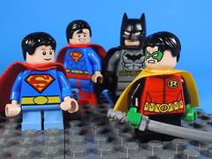 Super Sons and Dads (-Metarix-) Tags: lego super hero minifig dc comics comic robin superboy batman superman dads sons dad son action rebirth universe