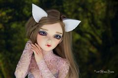 Custom white wolf set MSD (AnnaZu) Tags: wolf custom ears tail minifee cirrca polymer clay magnetic bjd accessories abjd balljointed