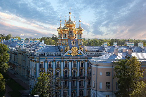 Catherine palace. Clouds.