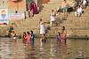 River Ganges, Varanasi (edina.cross) Tags: india asia people bathing river ganges varanasi pilgrims hindu ghat