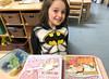 Luna Day 1590 (evaxebra) Tags: luna batman class classroom room school preschool breakfast lunchbox peppa pinkalicious book fruit morning