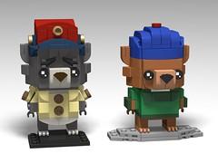 TaleSpin, Baloo and Kit BrickHeadz (headzsets) Tags: lego legomocs legomoc legophotography brickheadz legobrickheadz afol disney disneyafternoons disneylego talespin spinit baloo kit kitcloudkicker baloothebear junglebook