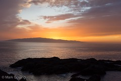 Sunset over La Gomera from Tenerife West Coast (markgosling94) Tags: nikon gomera tenerife sunset