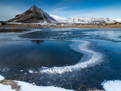 Frozen lake by the Mountain (JRPics.) Tags: landscape winter olympusem1mark2 mountains lava boulders cold iceland winterspring march waterfalls floraandforna snow sea rocks nature coast frozen ice aoi elitegalleryaoi bestcapturesaoi aoi3levels